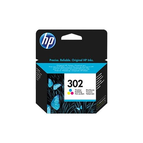 HP 302 Tri-color Ink Cartridge
